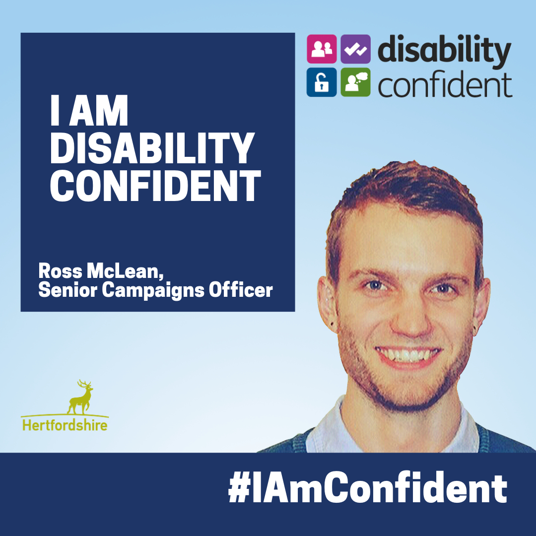 Senior Campaigns Officer describes how he is disability confident